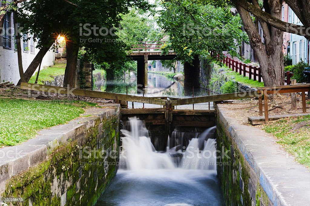 C&O Canal Georgetown Lock stock photo