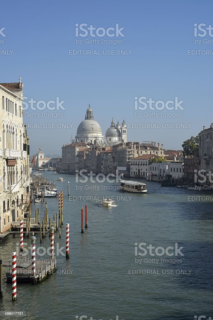 Canal Grande and church in Venice royalty-free stock photo