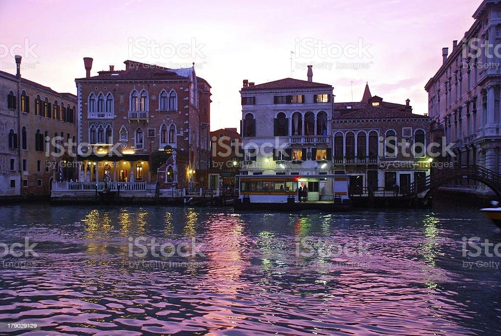 Canal Grande at dusk royalty-free stock photo