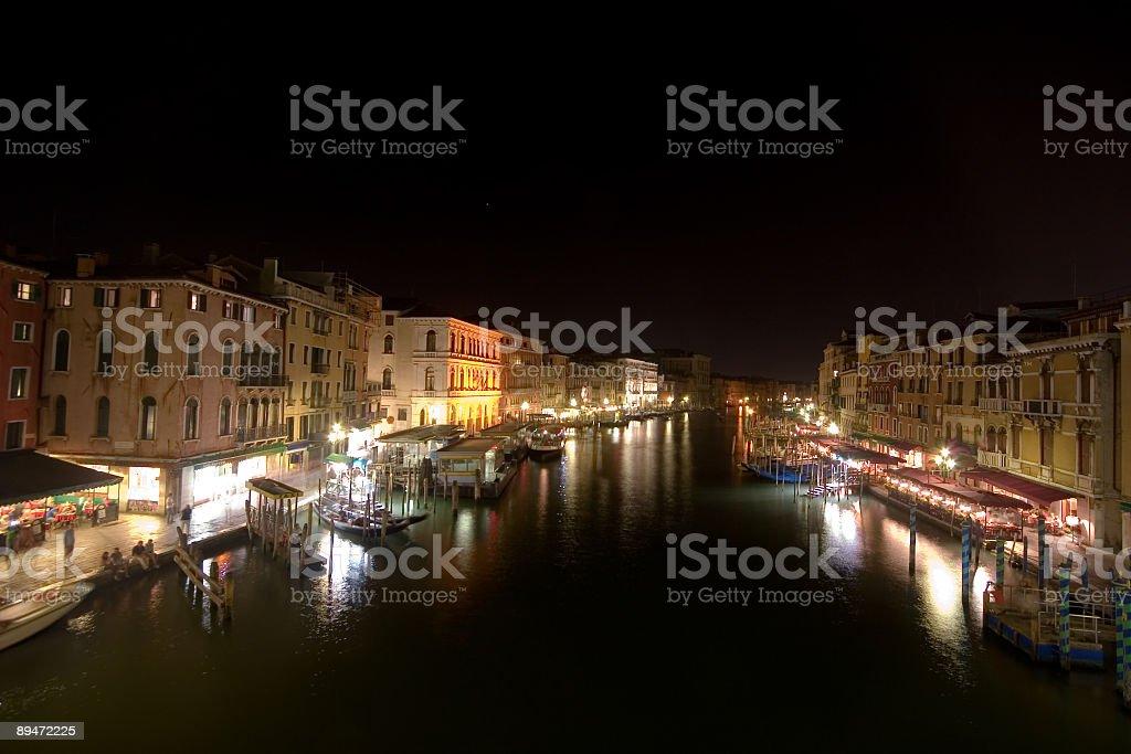 canal grande at night royalty-free stock photo