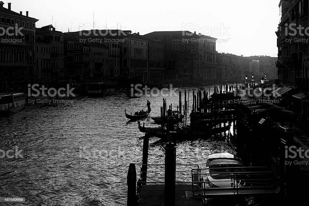 Canal Grande. Black and White royalty-free stock photo