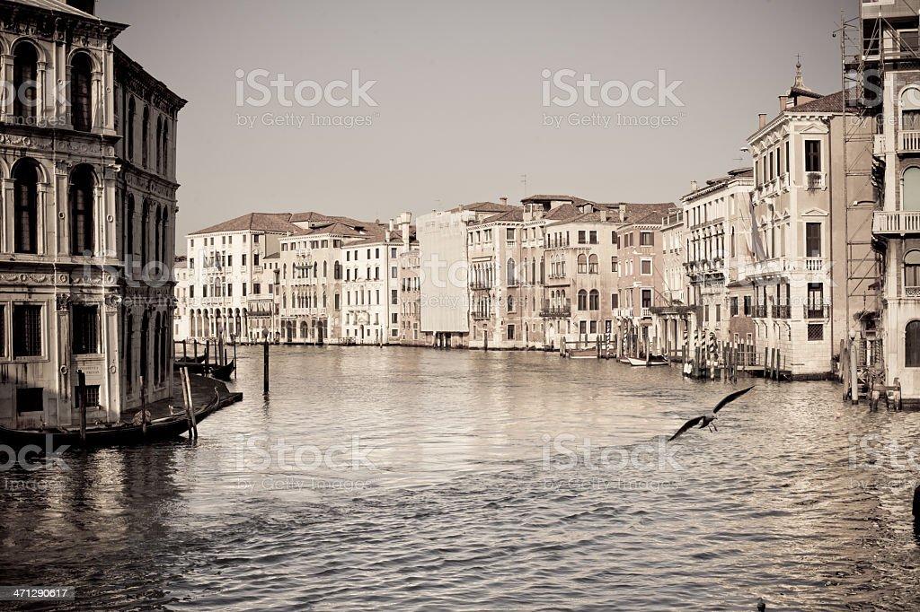 Canal Grande in Venice,Veneto,Italy royalty-free stock photo