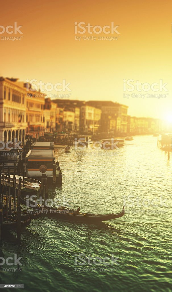 canal grande on venice royalty-free stock photo