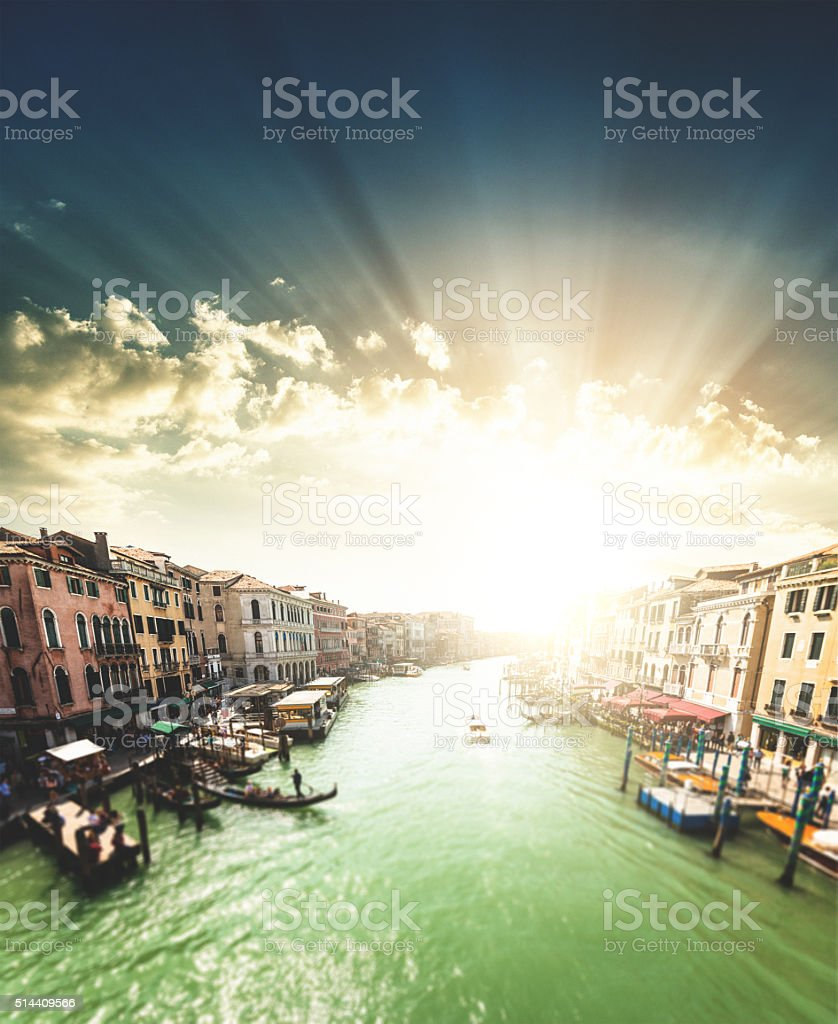 canal grande on venice stock photo