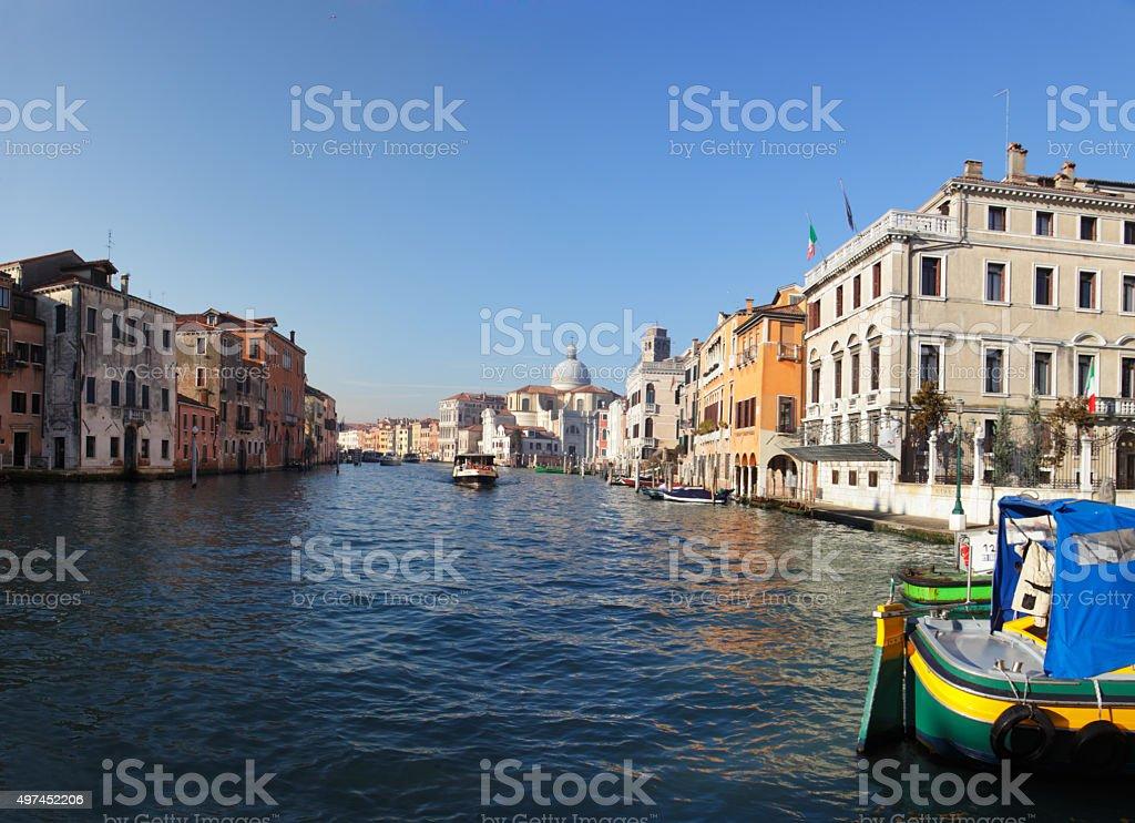 Canal grnda Venice stock photo