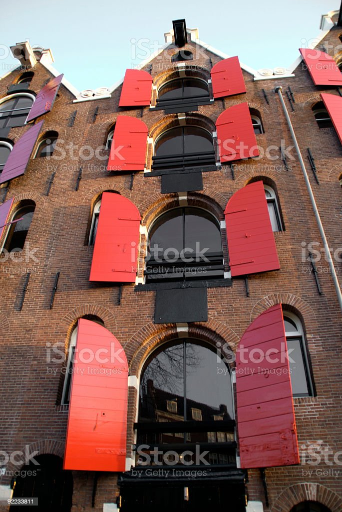 Canal houses in Amsterdam royalty-free stock photo