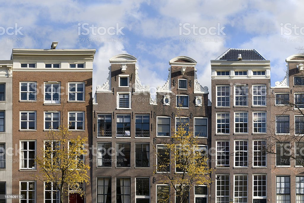 Canal Houses royalty-free stock photo