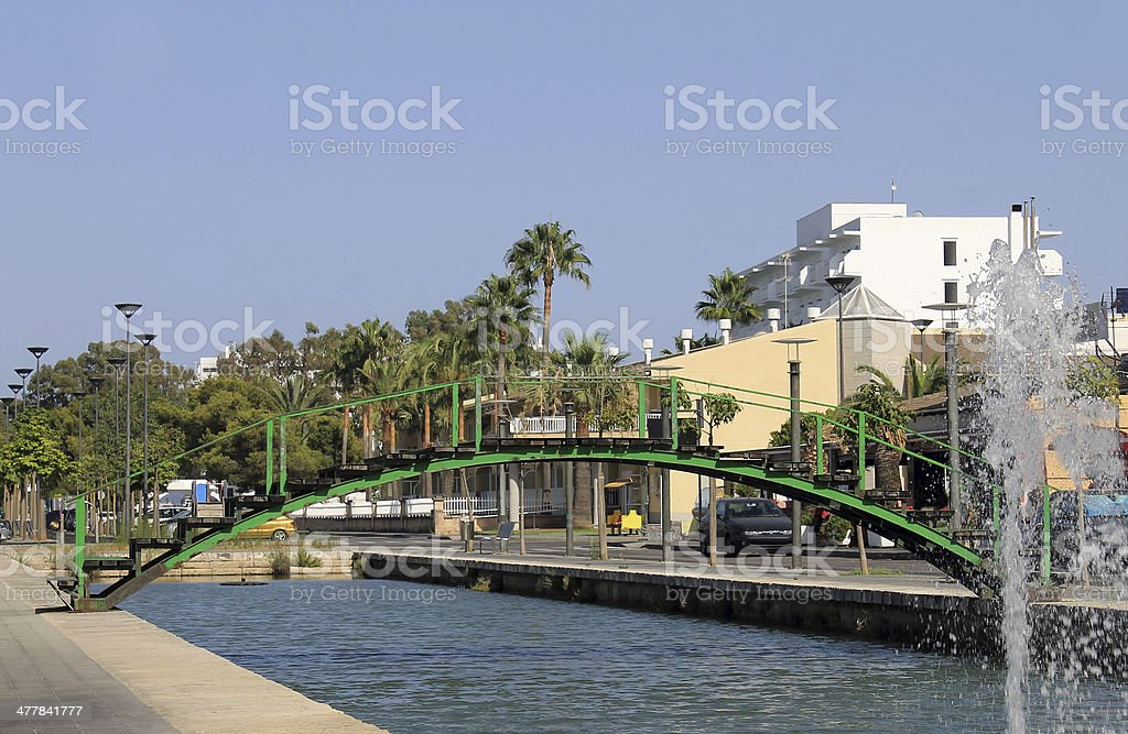 Canal in Alcudia old town royalty-free stock photo