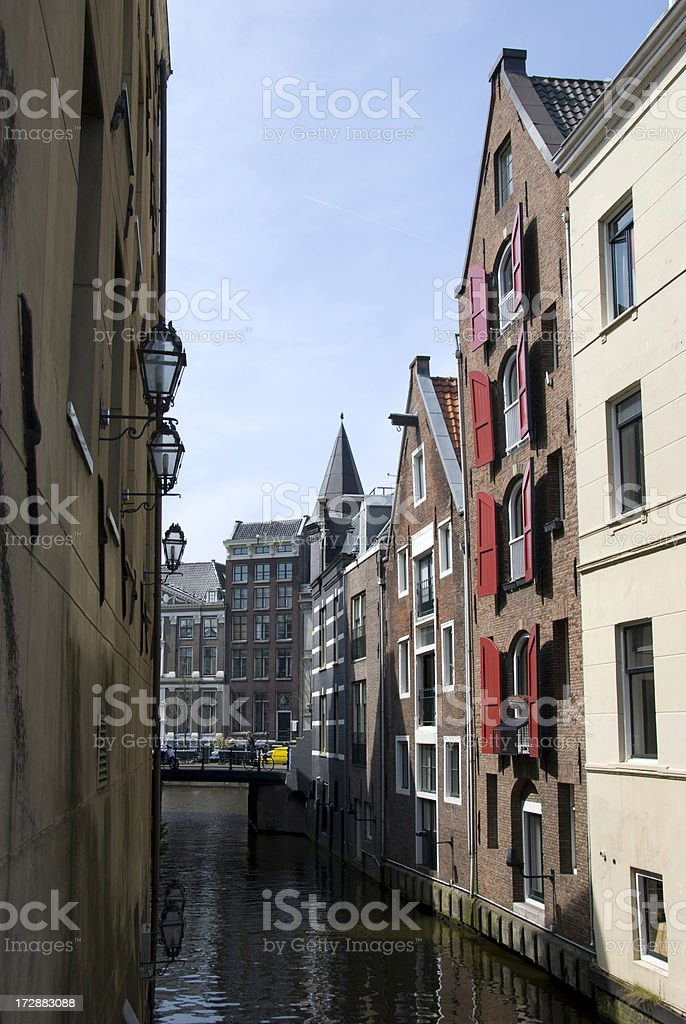 Canal in Amsterdam royalty-free stock photo