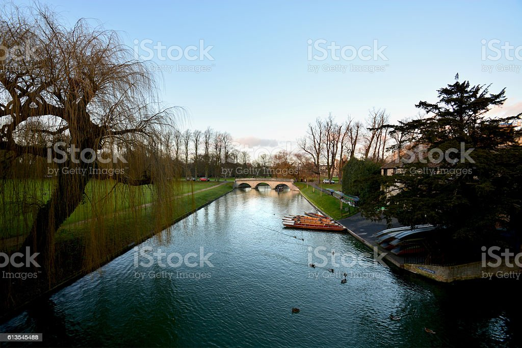 canal in Cambridge city royalty-free stock photo