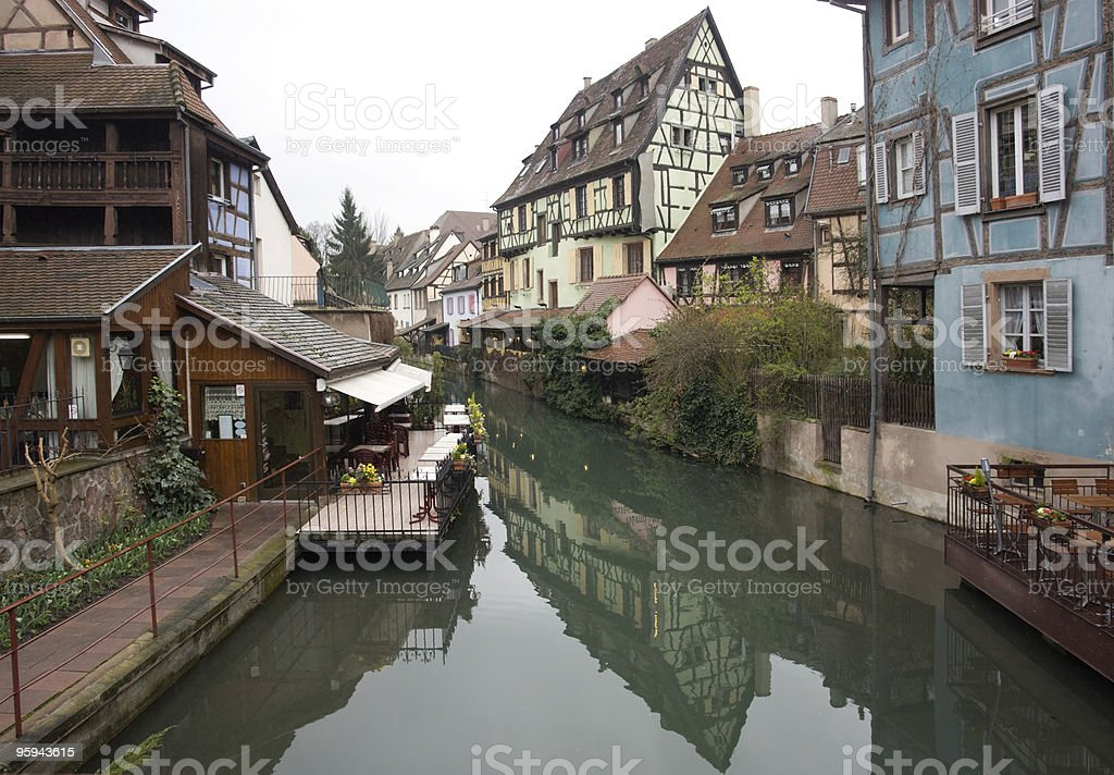 canal in Colmar royalty-free stock photo