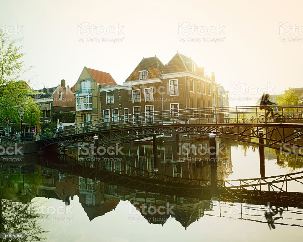 Canal in Netherlands royalty-free stock photo