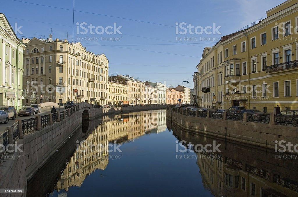 Canal in St. Petersburg, Russia / Канал в Санкт-Петербург, Россия stock photo