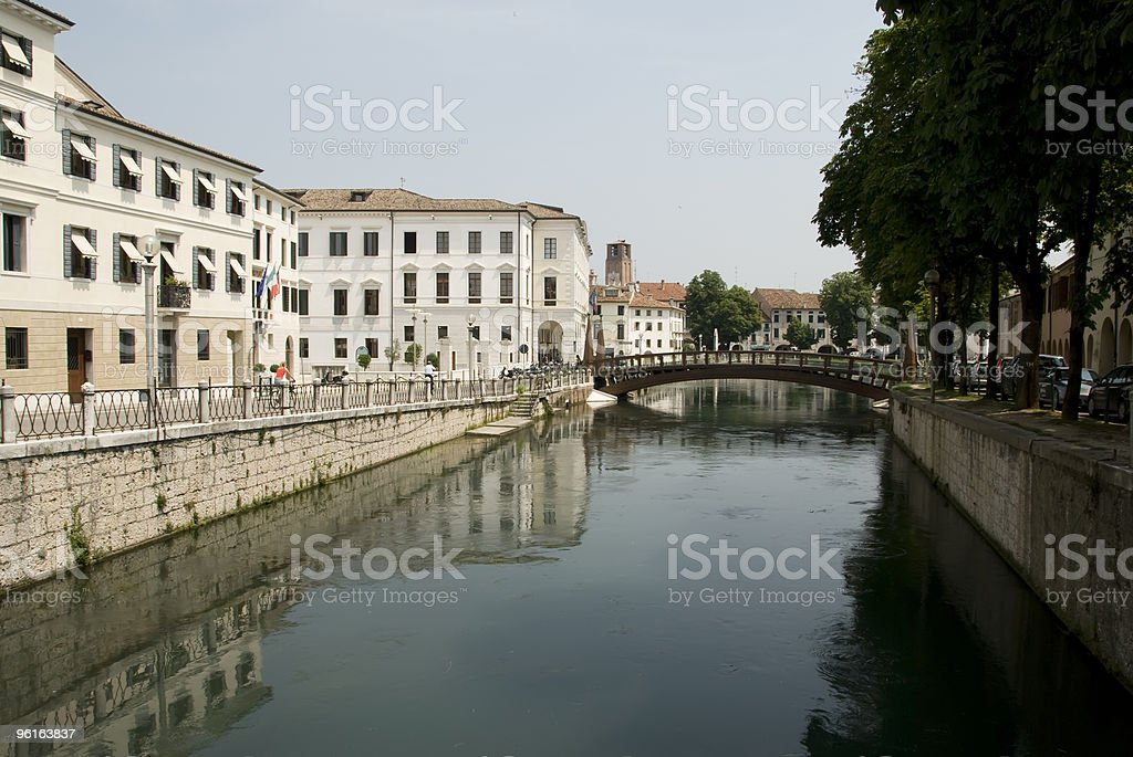 Canal in Treviso royalty-free stock photo