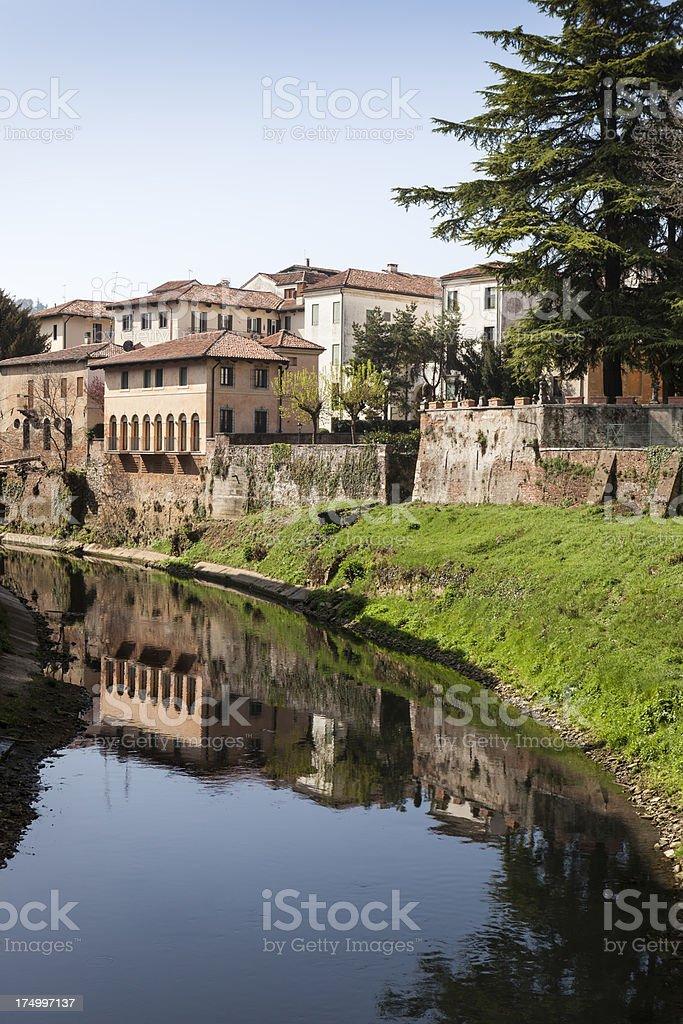 Canal in Vicenza, Veneto Italy royalty-free stock photo
