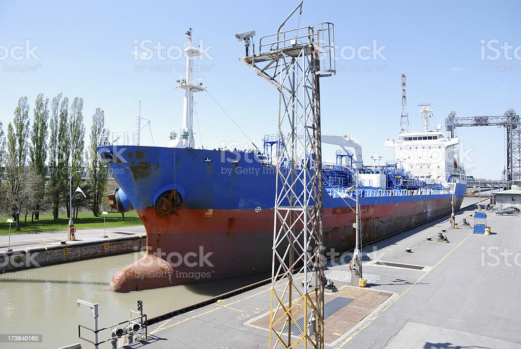 'Canal lock at St-Lambert on St-Lawrence river,Canada.' stock photo