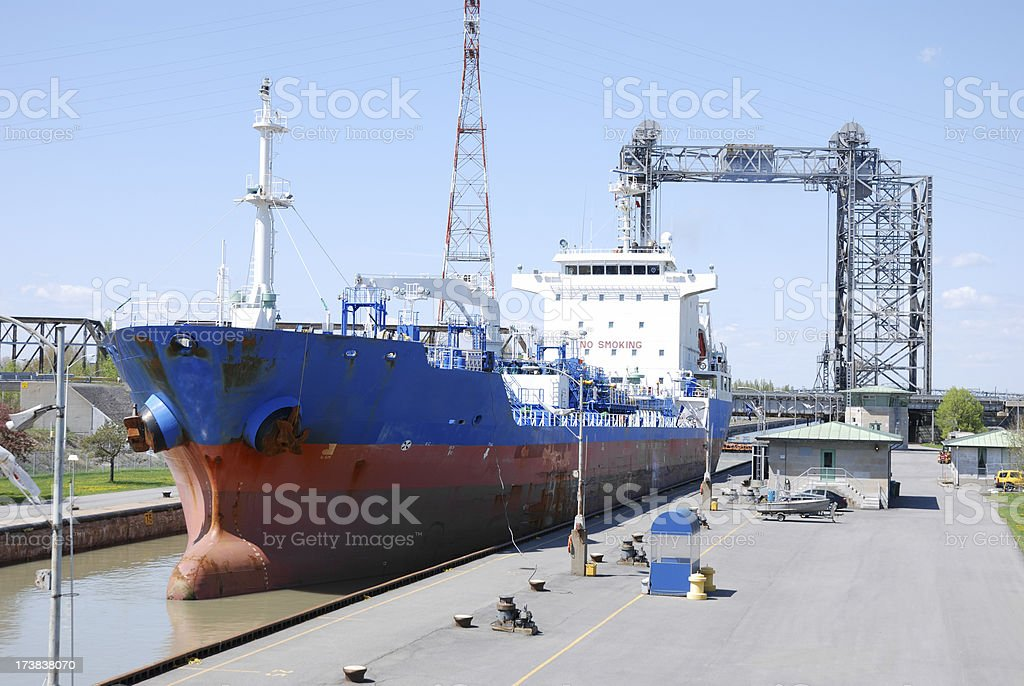 Canal lock of St-Lambert on St-Lawrence river,Canada. royalty-free stock photo