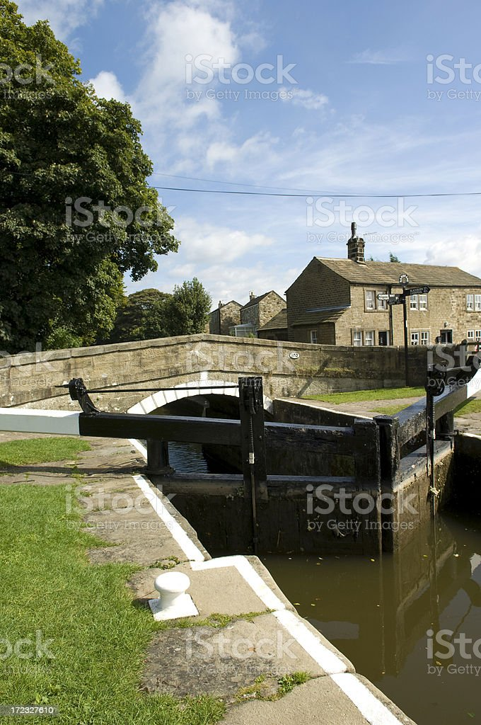 Canal Lock Portrait royalty-free stock photo