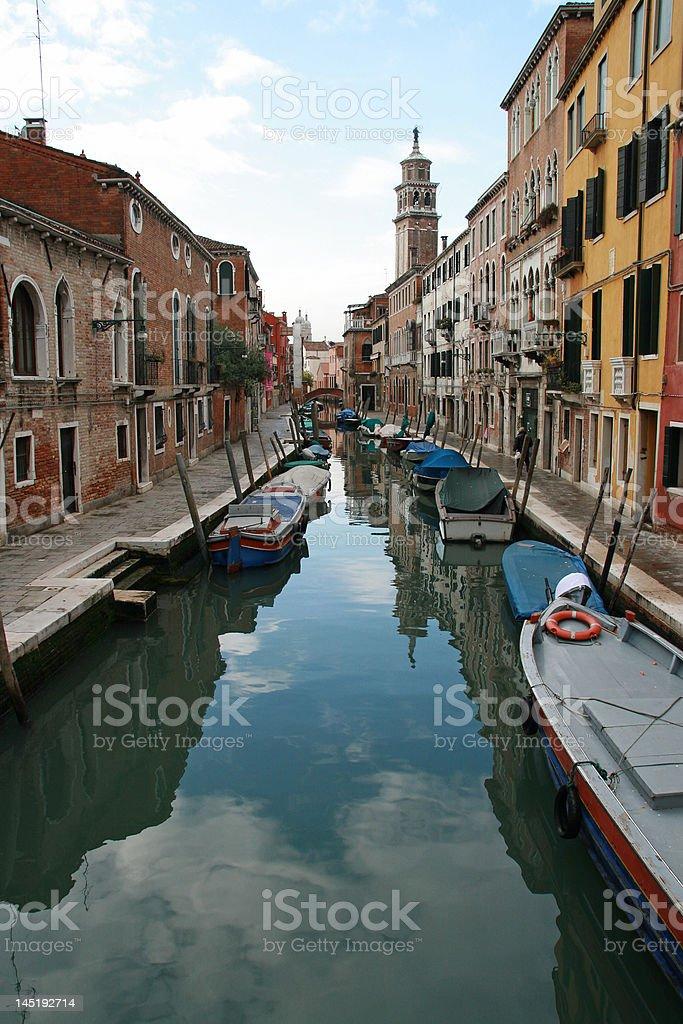 Canal of Venice Italy stock photo