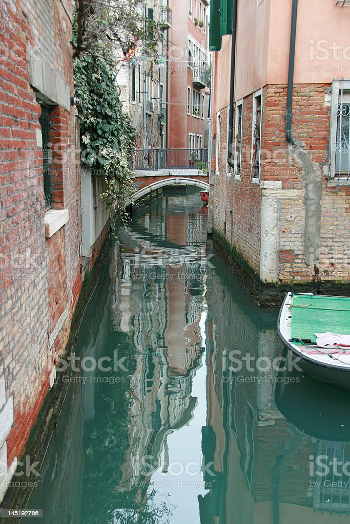 A Canal of Venice Italy stock photo