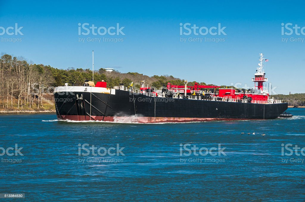 Canal Oil Barge stock photo