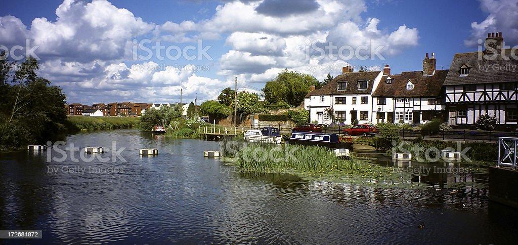 Canal on Avon stock photo