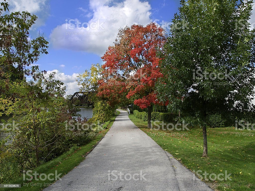 Canal Path stock photo