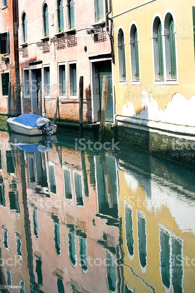 Canal Reflections in Venice Italy royalty-free stock photo