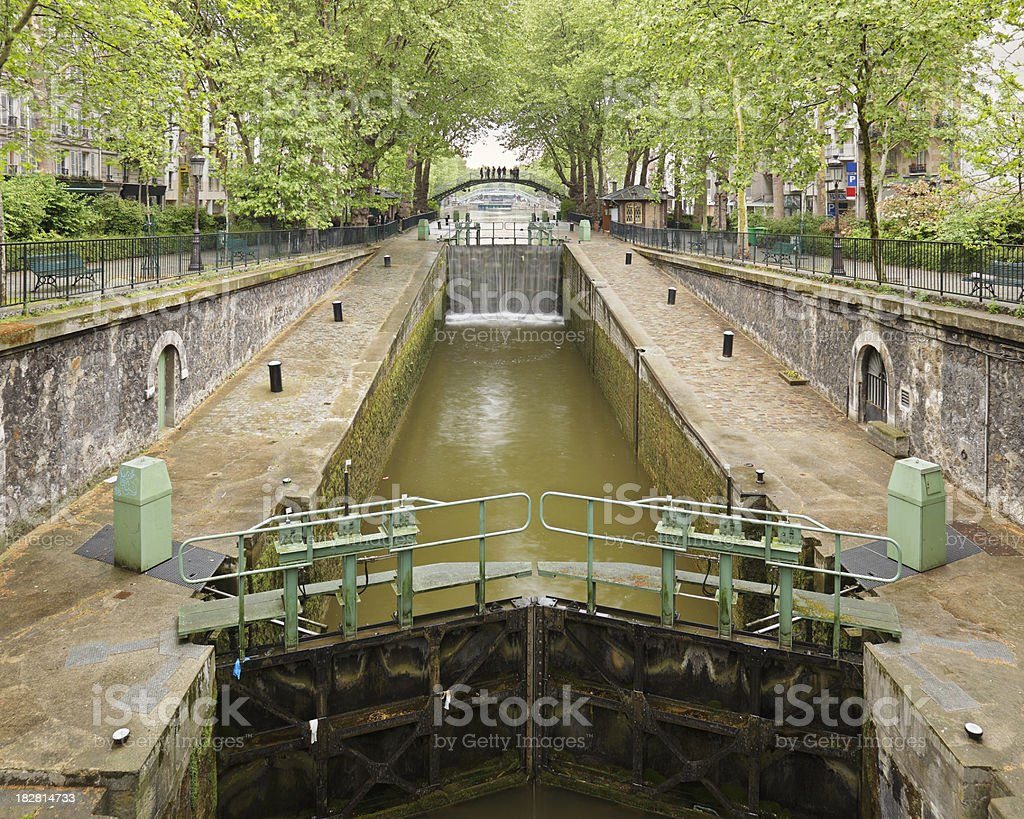 Canal Saint Martin stock photo