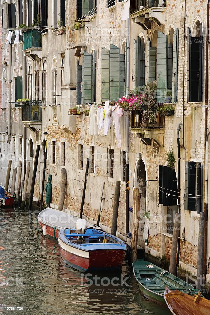 Canal Scene, Venice, Italy royalty-free stock photo