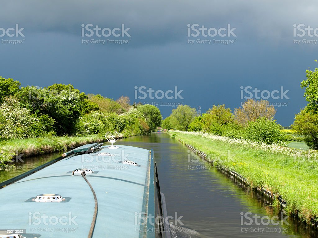 Canal scenery royalty-free stock photo