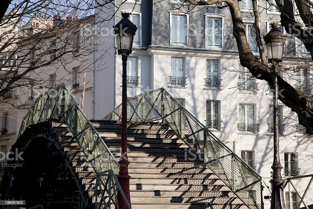 Canal St Martin in Paris stock photo