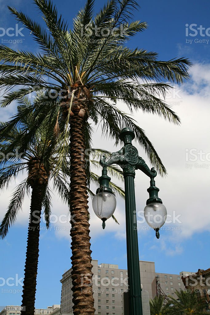 Canal Street lamps stock photo