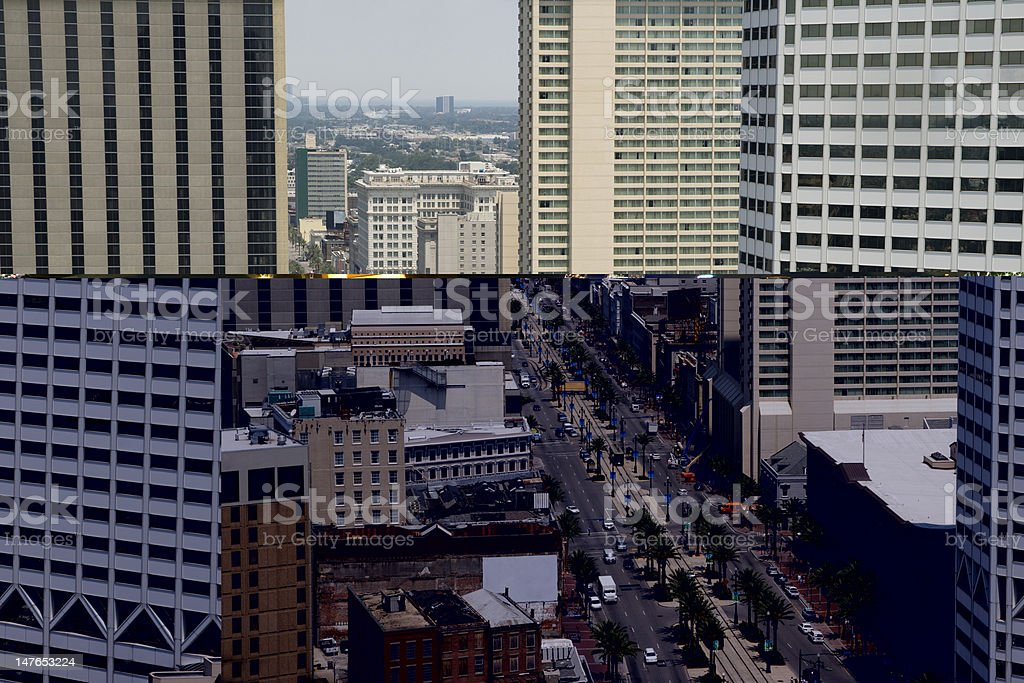 Canal Street, New Orleans royalty-free stock photo