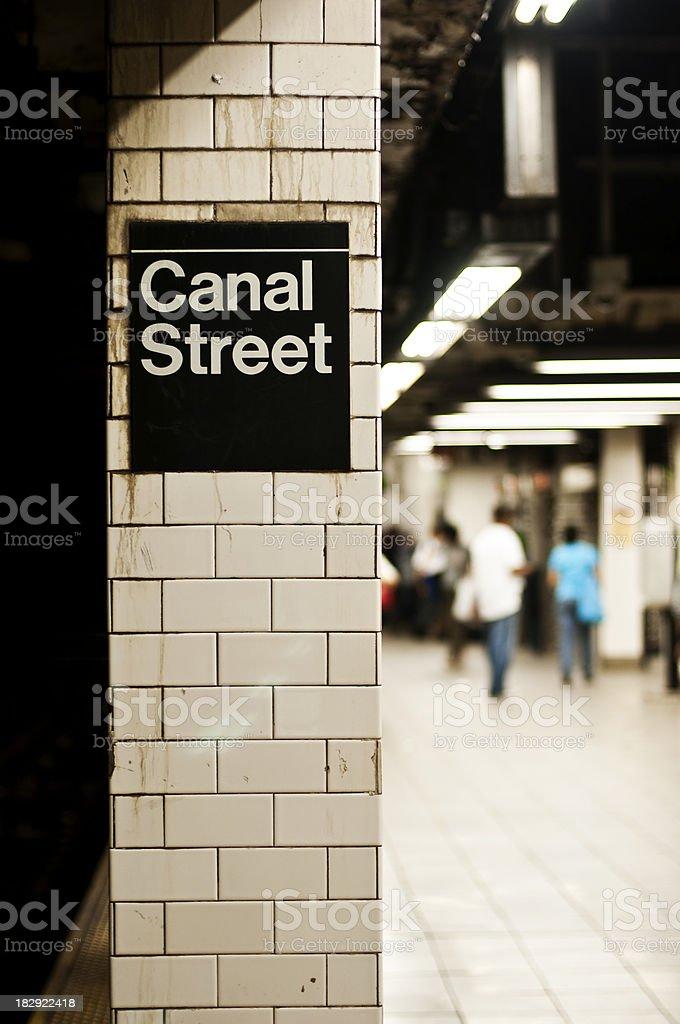 Canal Street stock photo
