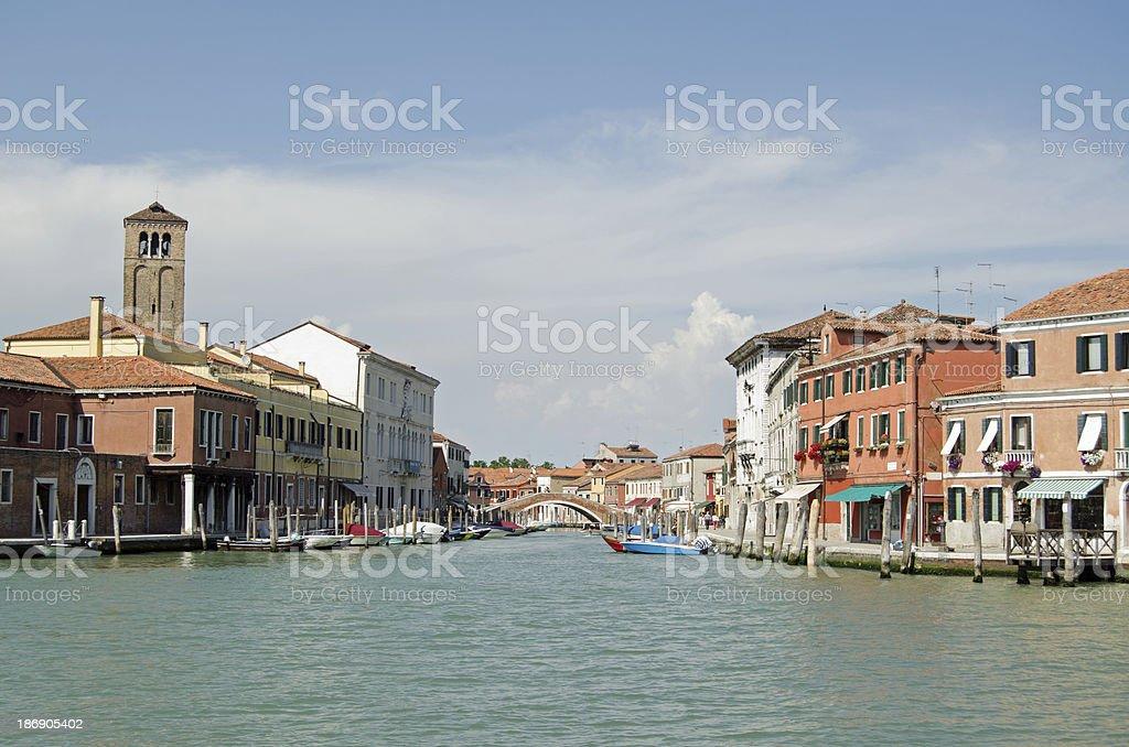 Canal through Murano, Venice royalty-free stock photo