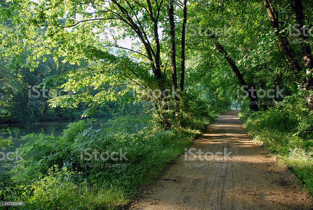 Canal trail royalty-free stock photo