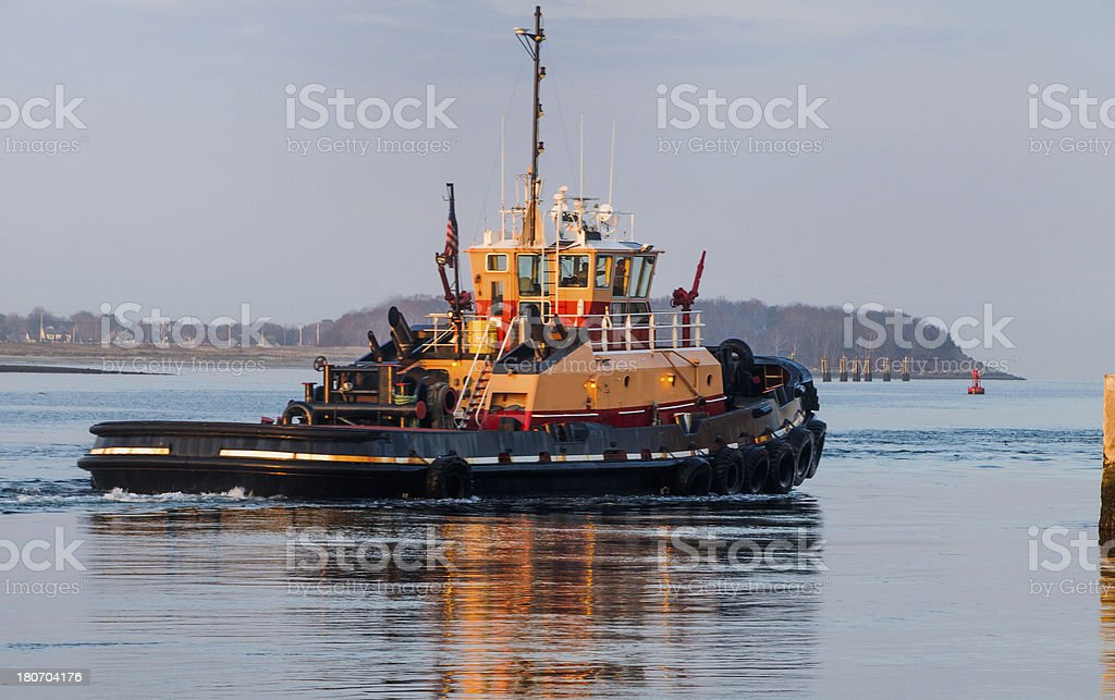 Canal Tugboat royalty-free stock photo