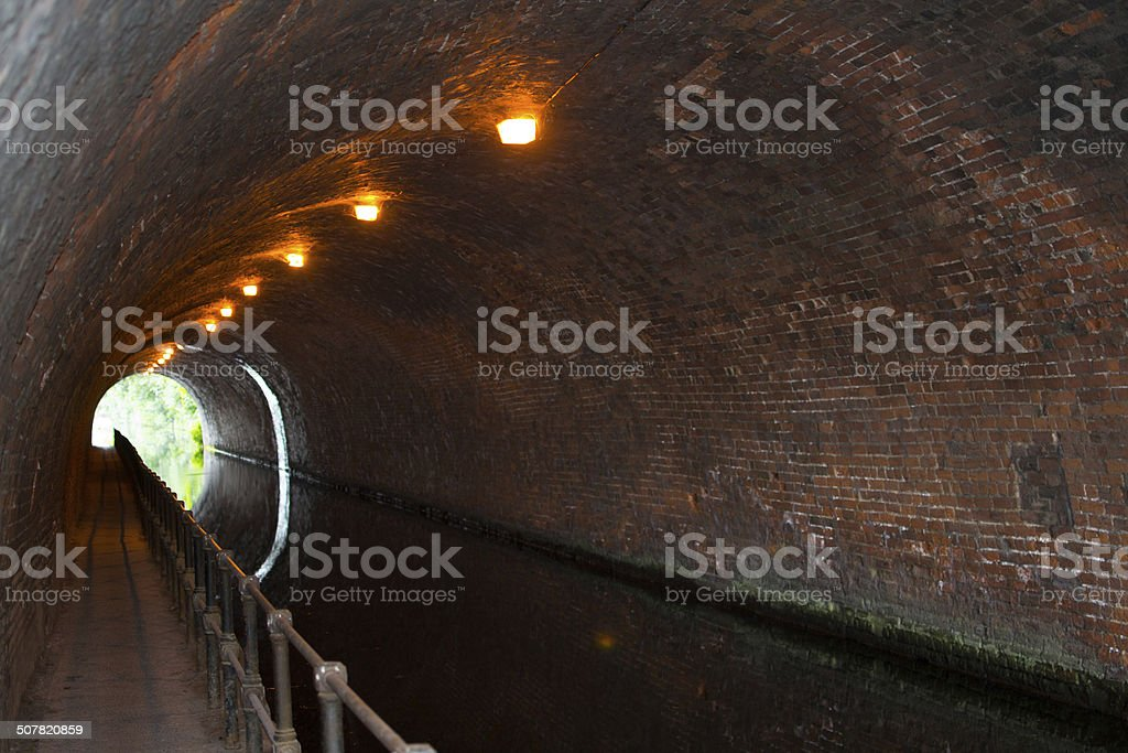 Canal Tunnel stock photo