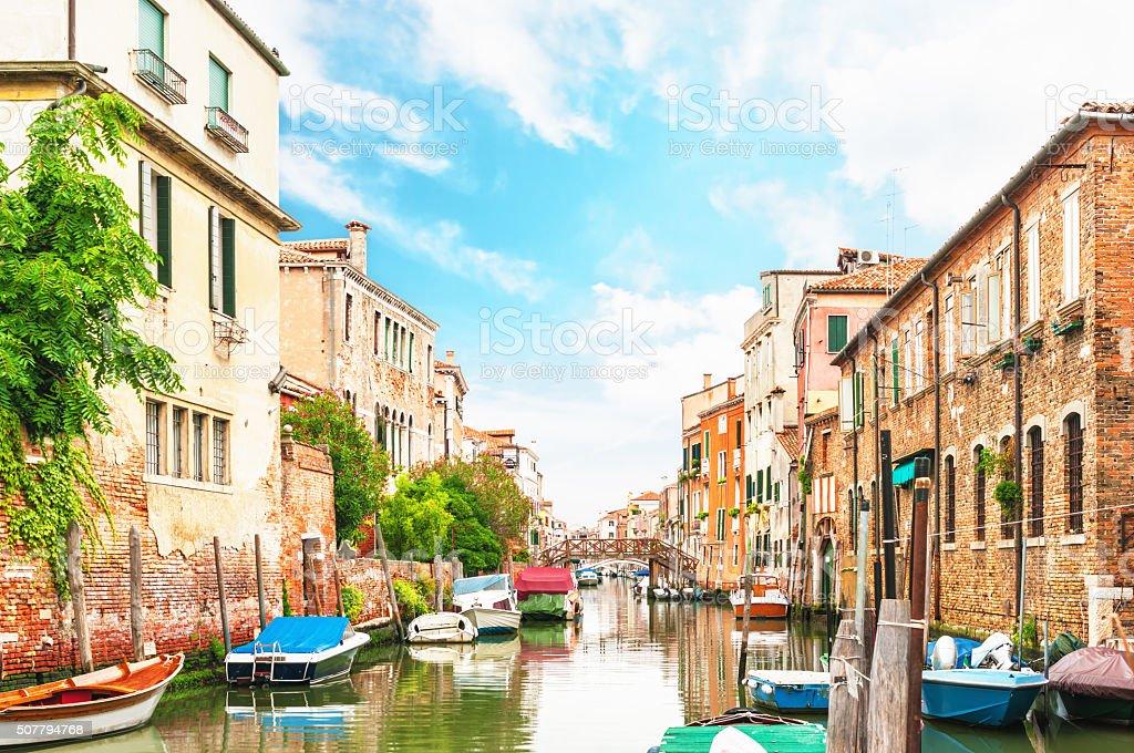 Canal Venice Italy. stock photo