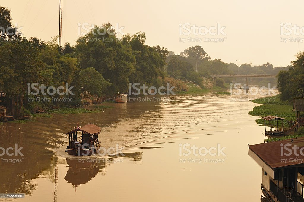 Canal view of thailand place royalty-free stock photo