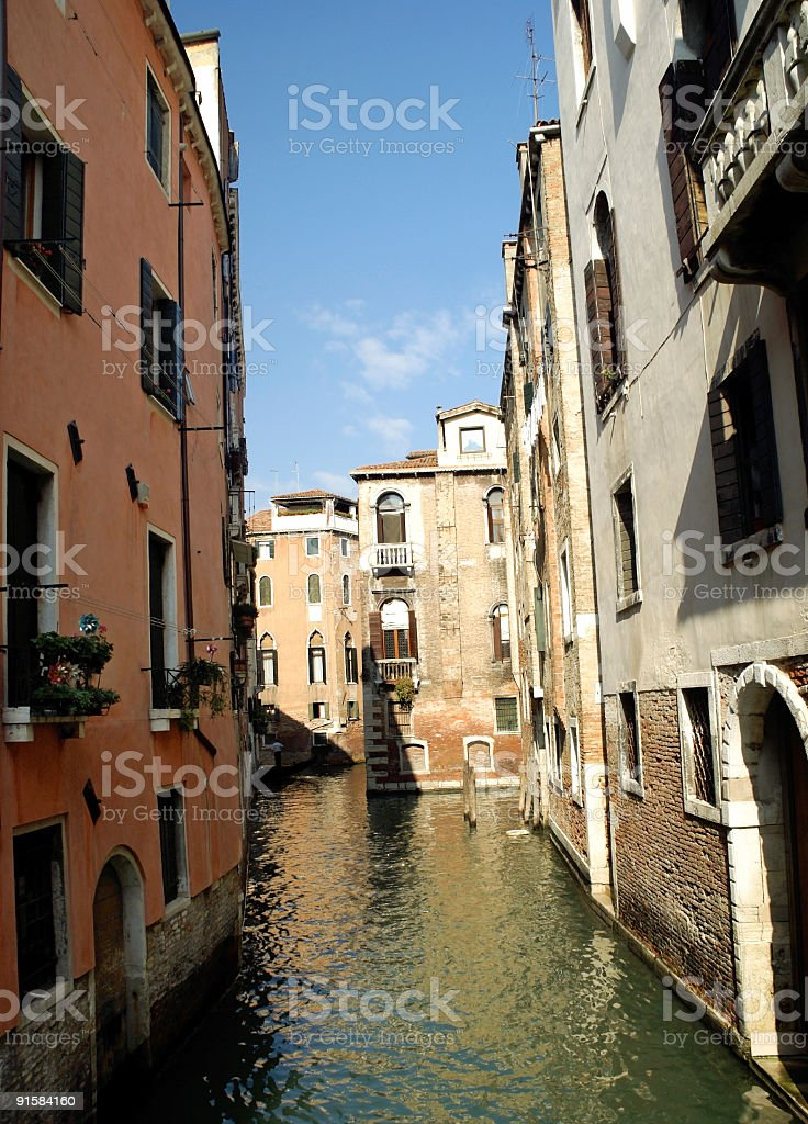 Canal View Venice Italy royalty-free stock photo
