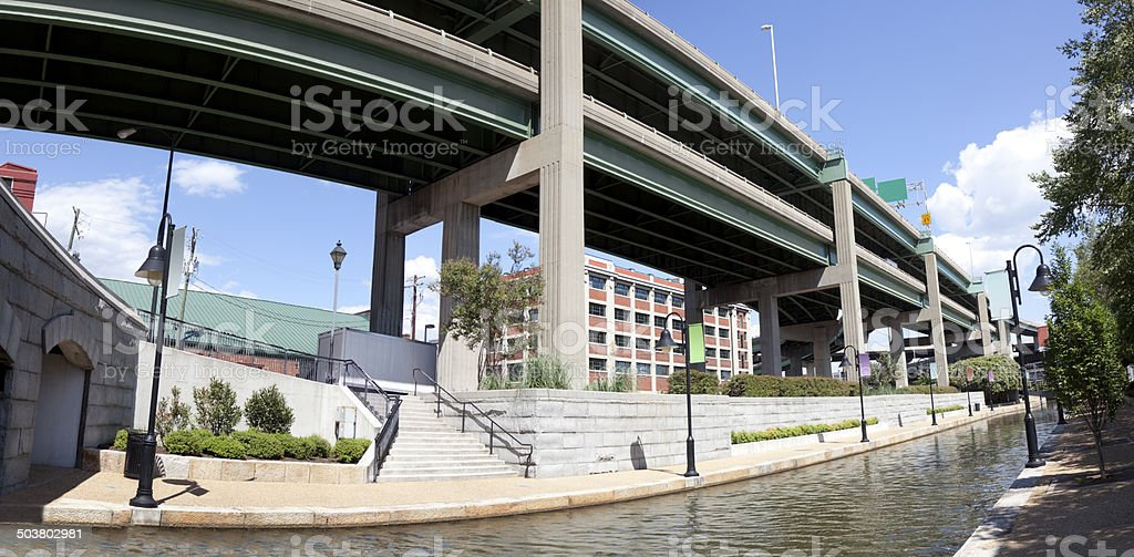 Canal Walk stock photo