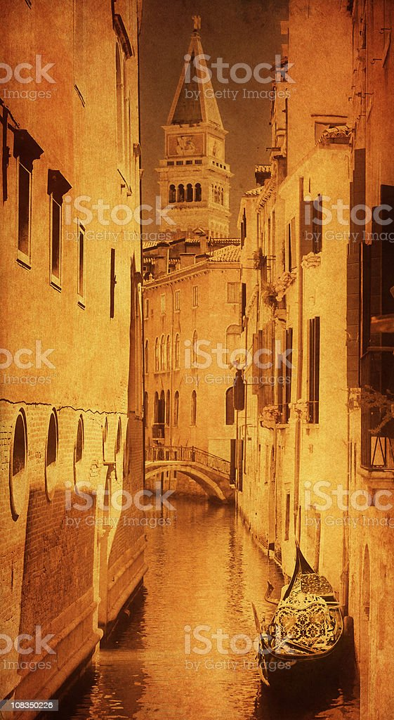 Canal with gondola royalty-free stock photo