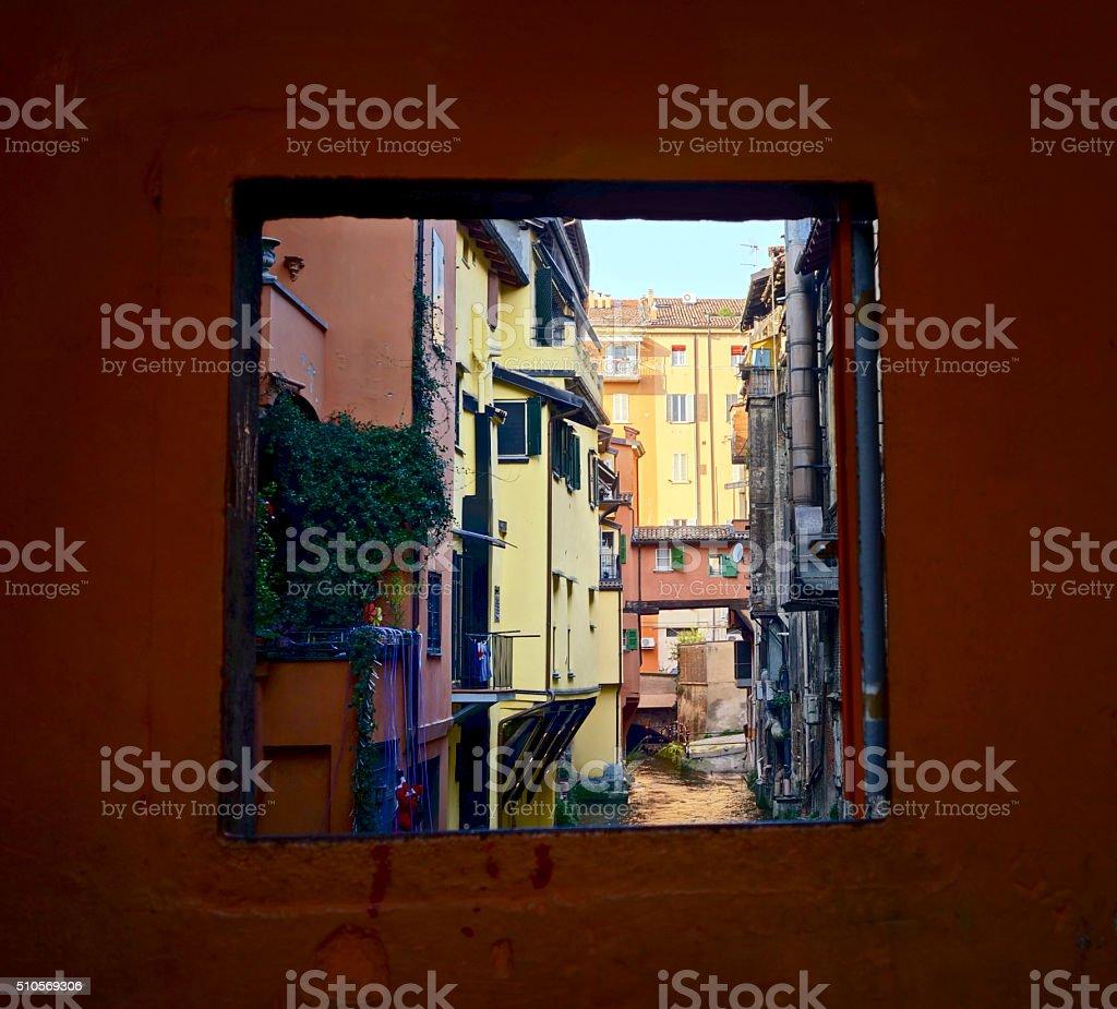 Canale delle Moline, Bologna Italy stock photo