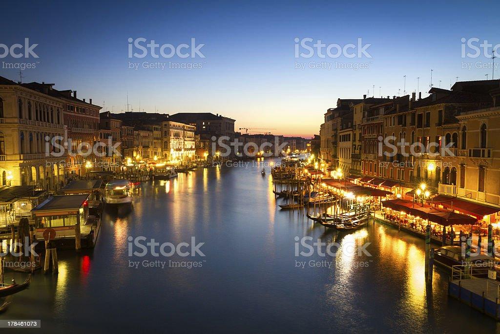 Canale Grande at dusk, Venice, Italy royalty-free stock photo