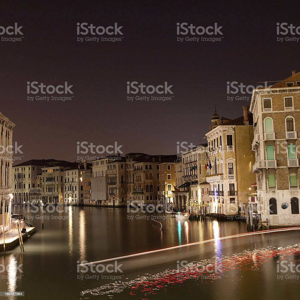 canale grande by night royalty-free stock photo
