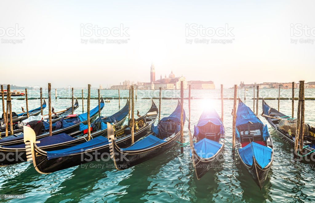 Canale Grande in Venice with boats stock photo