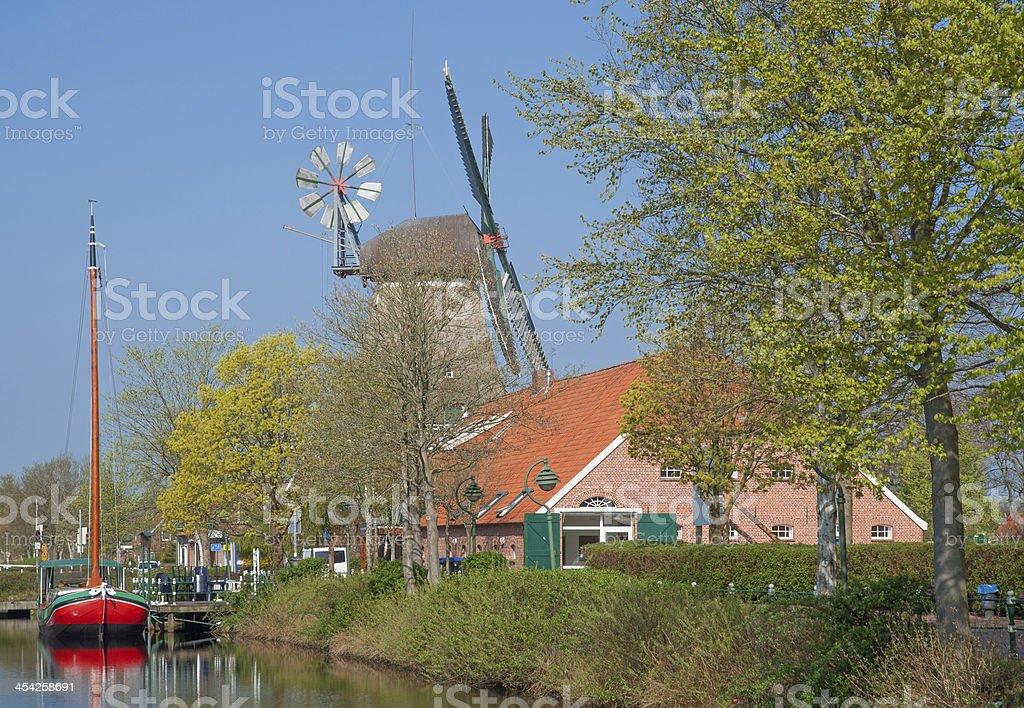 Canal,East Frisia,North Sea,Germany stock photo