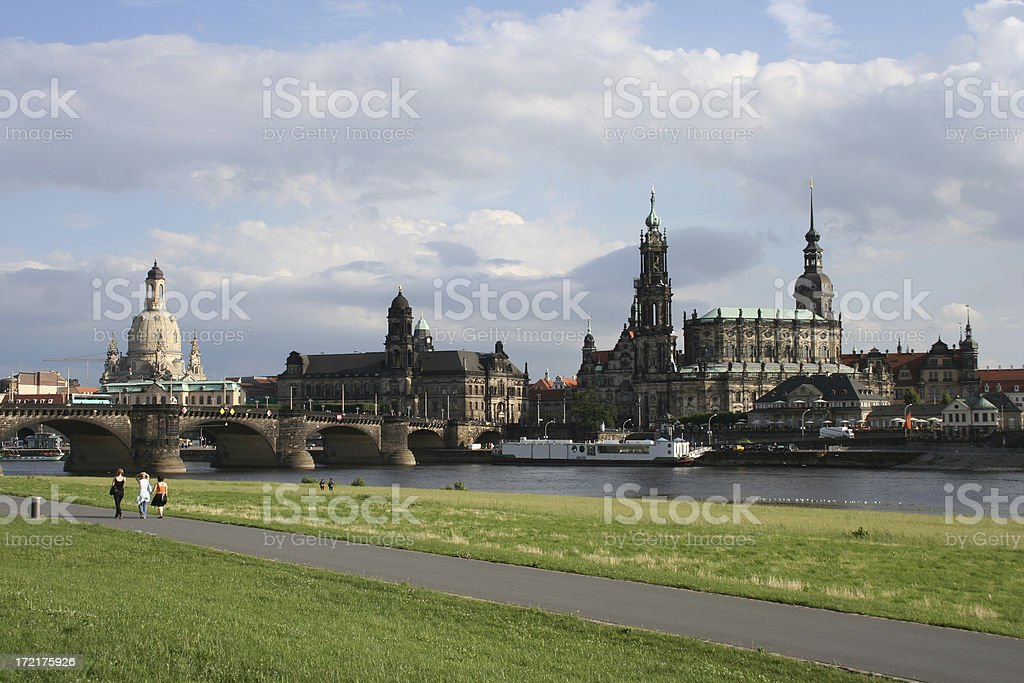 canaletto view on Dresden stock photo